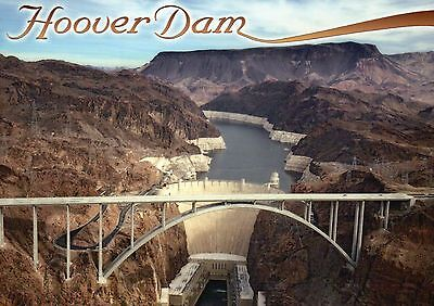 Hoover Dam Arizona & Nevada, Colorado River, Bypass Memorial Bridge --- Postcard