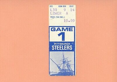 Pittsburgh Steelers at Baltimore Colts 1978 ticket stub Super Bowl XIII Season