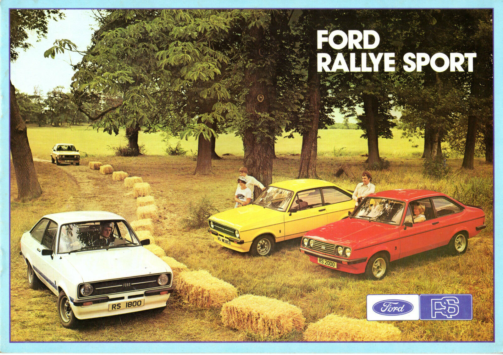 Ford Escort RS Mk2 1976-77 UK Market Sales Brochure Mexico RS1800 ...