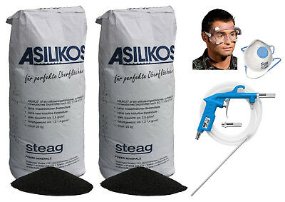 Güde Druckluft Sandstrahlpistole SP 200 + 50 kg Strahlgut Strahlmittel 0,2-0,5mm