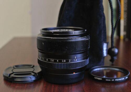 Black Fujifilm Fujinon XF 35mm f/1.4 R Lens for Fuji X