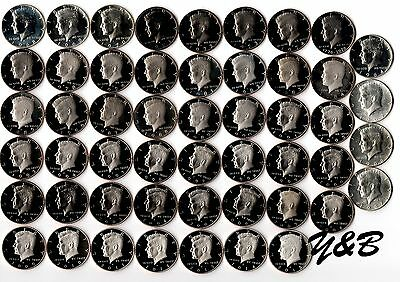 1964 - 2015 S Proof Kennedy Half Dollar Complete Set (include silver proof ,SMS)