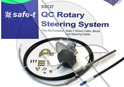17Ft Teleflex Safe T Ss13717 Quick Connect Boat Rotary Steering Cable   Helm Kit