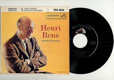 Henri Rene   Fascination   Used 7  45 Rpm Ep   1957 Rca Epa 4039