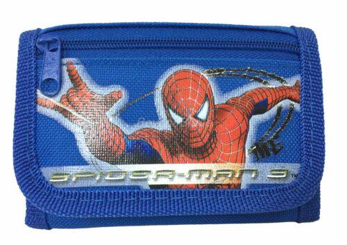 Spiderman wallet Blue Children Boys Girls Wallet Kids Cartoon Coin Purse