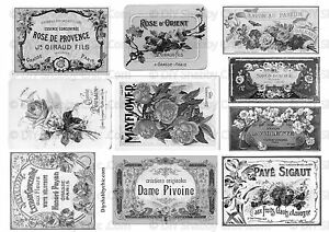 meubles water slide decal shabby chic fran ais image transfert vintage labels b w ebay. Black Bedroom Furniture Sets. Home Design Ideas