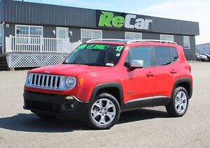 2017 Jeep Renegade Limited 4X4 | LEATHER | NAV | MYSKY PANO ROOF