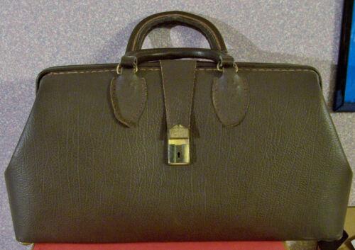 Vintage BROWN Leather Doctors Bag, circa 1981, unlocked, no keys, Used little