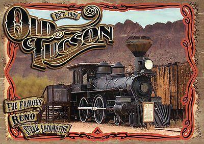 The Famous Reno Steam Locomotive, Old Tucson Arizona --- Railroad Train Postcard