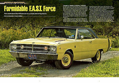 1968 DODGE DART GTS MODIFIED  ~  GREAT 6-PAGE MUSCLE CAR ARTICLE / AD