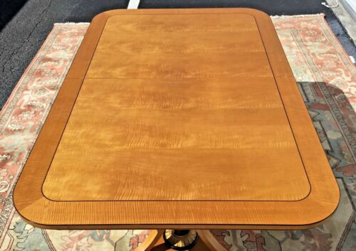 Exceptional Baker Furniture Biedermeier Style Dining Table w/ 2 Leaves