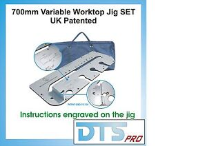 700mm Kitchen Worktop Jig + Anlge plate system + Carry bag
