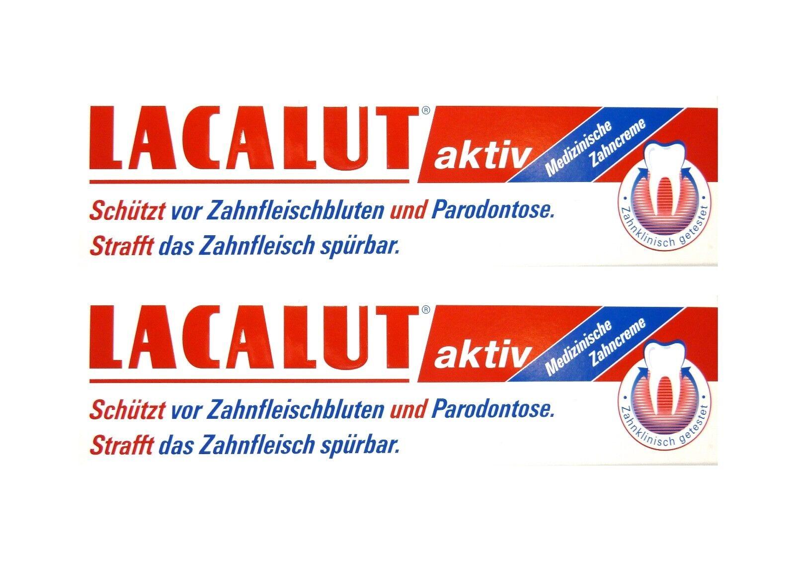 2x LACALUT aktiv Zahncreme 100 ml PZN 5484132 Parodontose Zahnfleischbluten