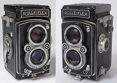 Rolleiflex 3.5A Model  K4A  early 1950's + leather case. 75mm f3.5 Tessar