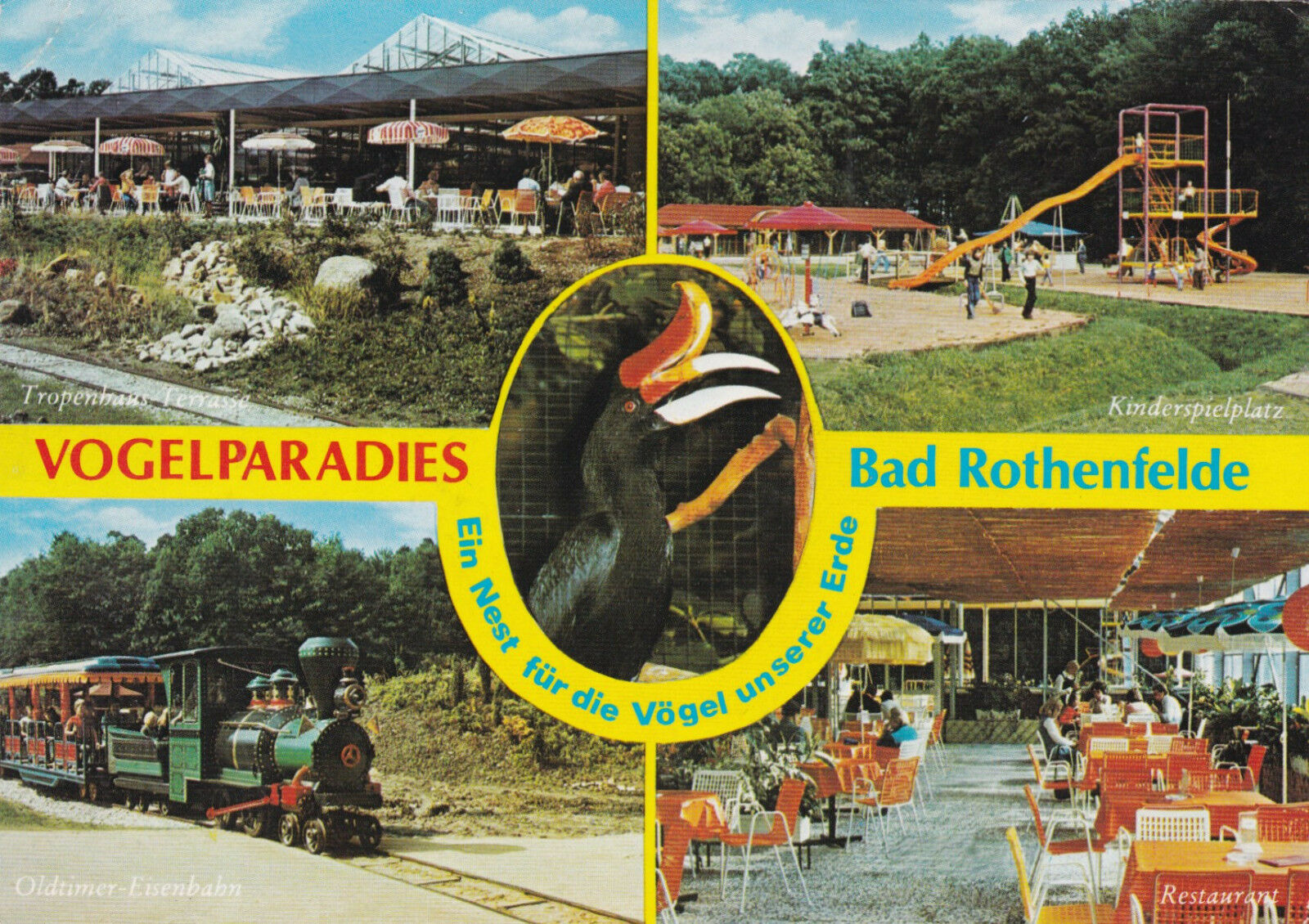 Bird Paradise Bad Rothenfelde Germany Postcard used VGC