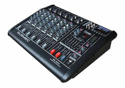 8 CHANNEL 4000 WATTS PROFESSIONAL POWER MIXER AMPLIFIER USB/