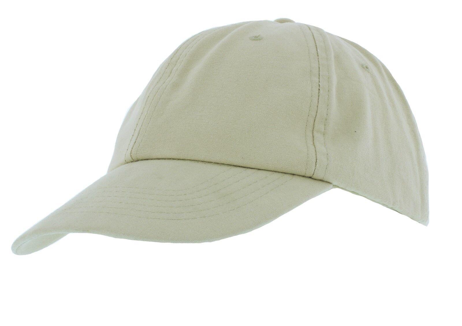 Adjustable 100% Cotton Baseball Cap in Beige