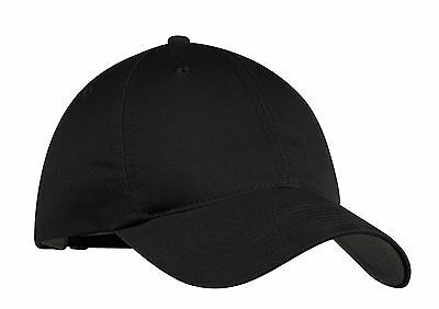 7fbe127e68e3f NEW-NIKE GOLF-BLACK UNSTRUCTURED ADJUSTABLE-SWOOSH ON BACK-BASEBALL CAP-