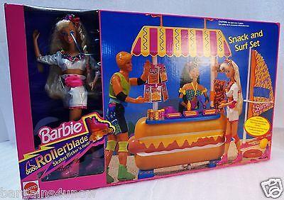 Mattel Rollerblade Barbie Snack and Surf  NIB #7142 1992 Arco Retired 1992