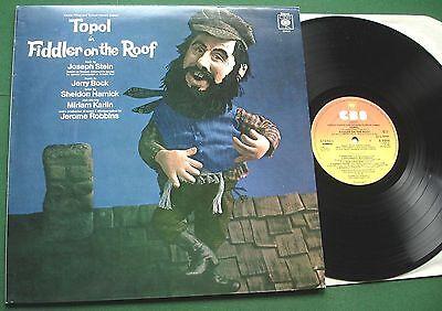 Fiddler on The Roof Original London Cast Topol Miriam Karlin CBS 31519 LP