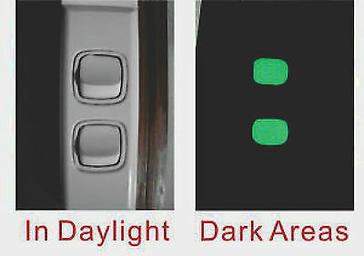 cker for Light Switch button ( 1set 12 x Switch button ) (Glow In The Dark Buttons)