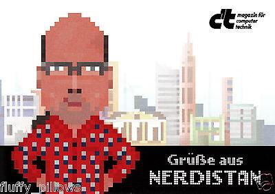 Postkarte / Ansichtskarte : Grüße aus NERDISTAN ( heise c't Magazin )