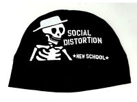 ADULTS UNISEX BLACK OR RED SOCIAL DISTORTION BEANIE PULL-ON SKI WARM KNIT HAT