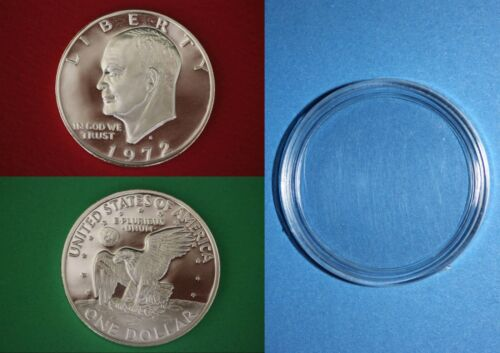 1972 S 40% Silver Proof Eisenhower Dollar Ike Combined Shipping With Capsule