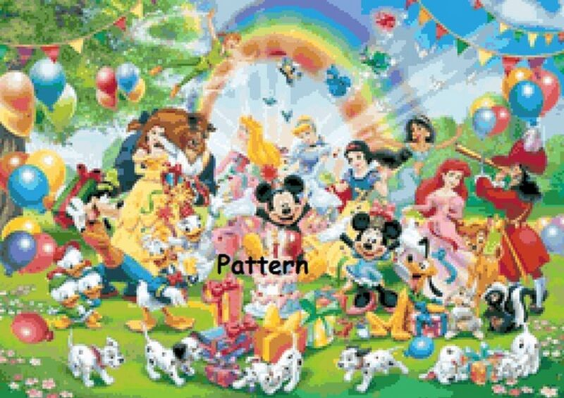 Disney Heroes #9. Counted Cross Stitch Pattern. Paper version or PDF files.