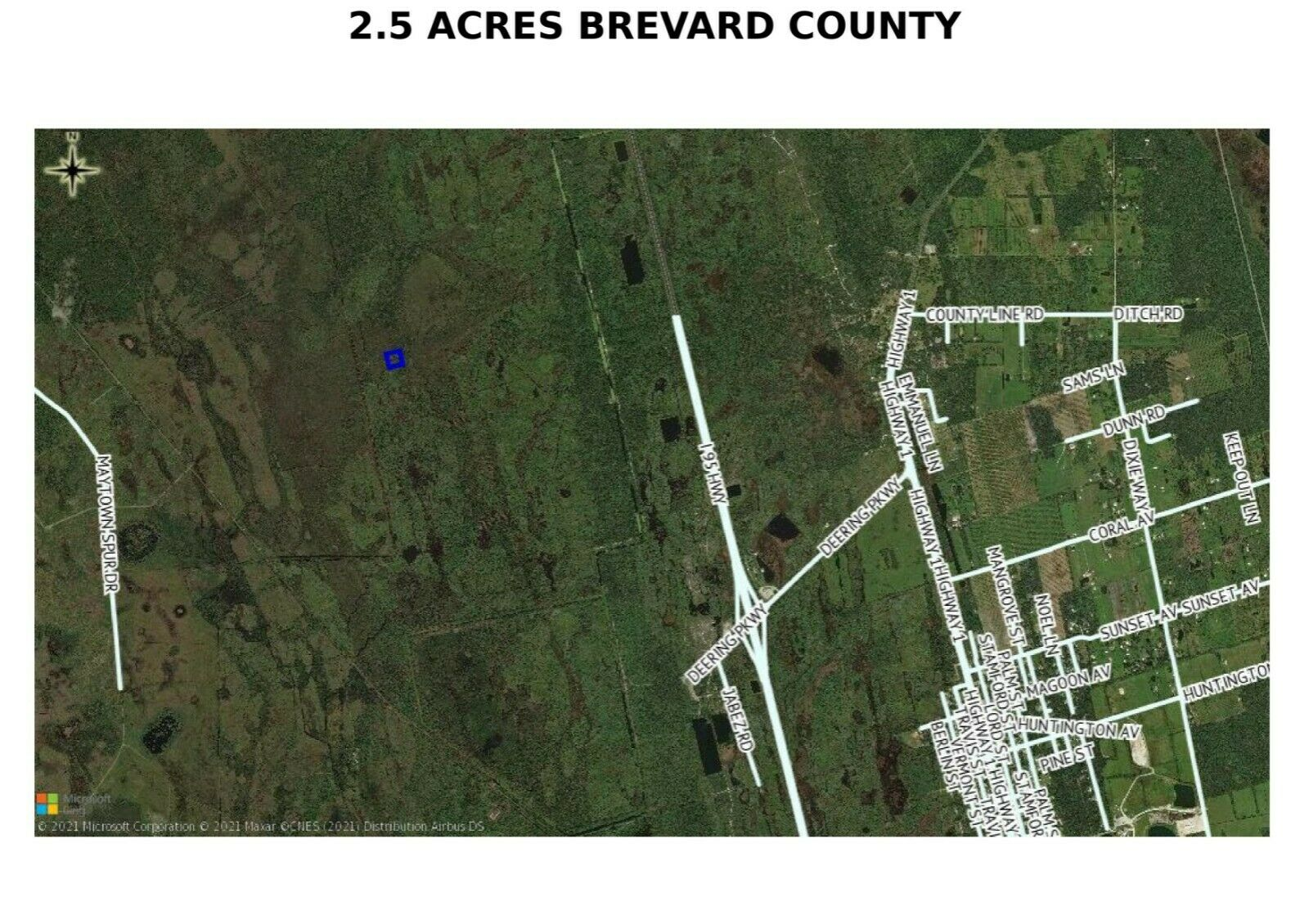 PRE-FORECLOSURE FLORIDA TAX LIEN CERTIFICATE FOR LAND 2.50 AC COCOA, FL BREVARD - $0.99