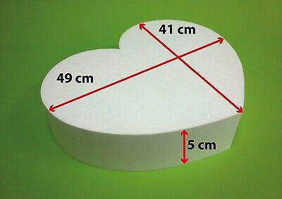 1 Herz 50x42x5 cm Hochzeitstorte Proben für die Hochzeitstorte Dummy Styropor 3D