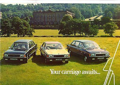 Coleman Milne Limousines 1979-81 UK Market Sales Brochure Ford Granada Based