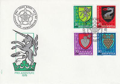 Schweiz  FDC Ersttagsbrief 1979 Gemeindewappen Mi. 1165-68