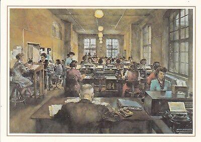 Postkarte - Post / Telegrammaufnahme in Frankfurt a.M, 1950