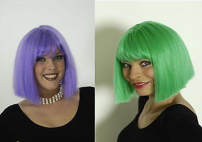 Perücke grün oder lila Froschkönigin Charleston Hippie Clown - Grüne Clown Perücke