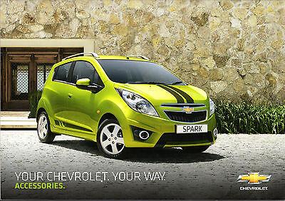 Chevrolet Accessories 2010 UK Market Brochure Spark Aveo Lacetti Cruze Captiva