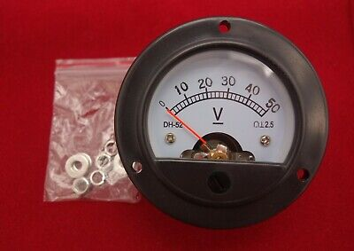 Dc 0-50v Analog Voltmeter Analogue Voltage Panel Meter Dia. 66.4mm Dh52