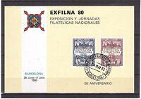España Hojitas Recuerdo Fnmt Nº 86 Exfilna 80 -  - ebay.es