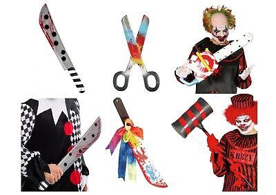 Adult Bloody Clown Weapons Hammer Machete Fancy Dress Decoration Weapon Prop](Clown Hammer)