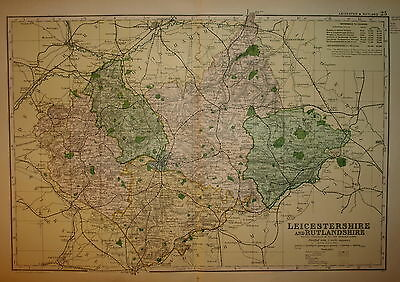 LEICESTERSHIRE & RUTLANDSHIRE BY G W BACON 1898