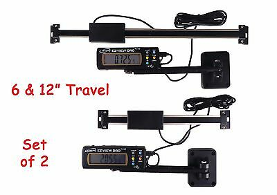 """Digital Readout DRO Set 6"""" and 12"""" Igaging AC Power Articulating Remote Display"""