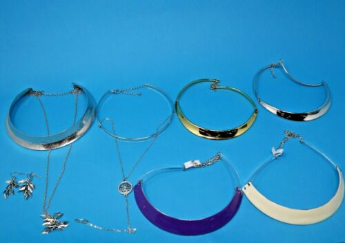 Wholesale lot of 7 Necklace Collar Choker Earrings Boho Style Layered Look