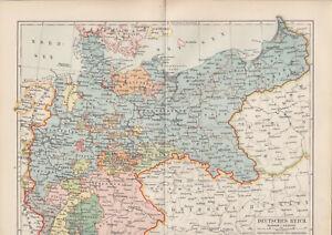 1899 Deutsches Reich 4 Seiten Statistik Alte Landkarte Karte Antique Map - Schleinbach, Österreich - Widerrufsrecht Sie haben das Recht, binnen 1 Monat Tagen ohne Angabe von Gründen diesen Vertrag zu widerrufen. Die Widerrufsfrist beträgt vierzehn Tage ab dem Tag an dem Sie oder ein von Ihnen benannter Dritter, der nicht der  - Schleinbach, Österreich