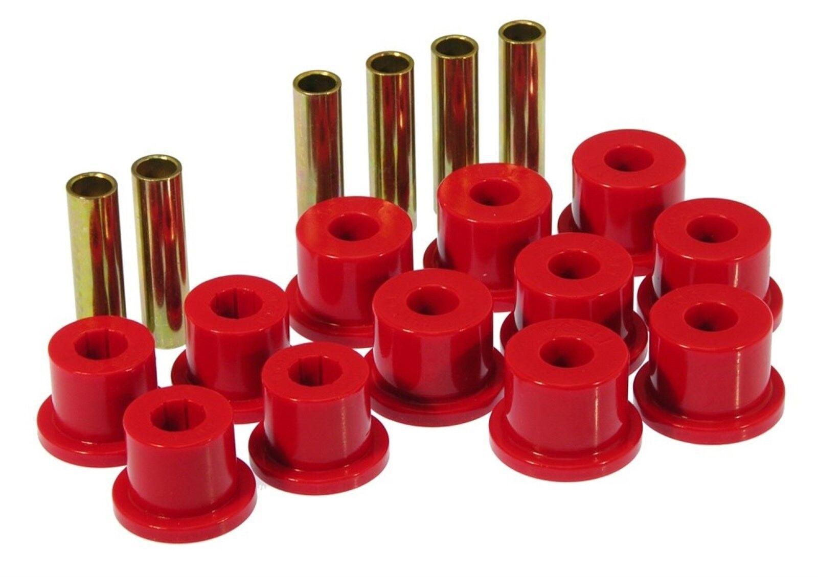 Prothane 4-1008 Red Rear Spring Eye and Shackle Bushing Kit