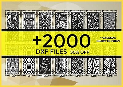 2000 Dxf Cnc Vector Art File Ready To Cut For Cnc Plasma Router Laser Catalog