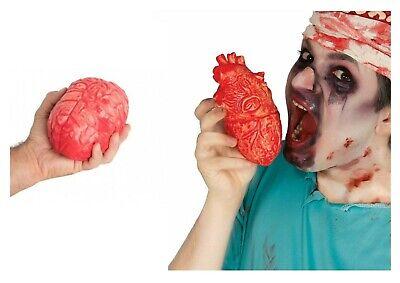 Falsch Blutig Herz Gehirn Halloween Requisiten Getrennt Latex Body Parts](Halloween Blutig)