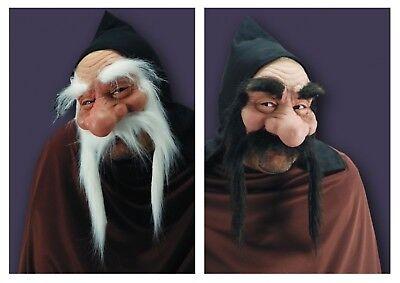 Mit Kapuze Gnome Troll Maske Bart Hobbit Alter Mann Kostüm Zwerg Goblin Kostüm