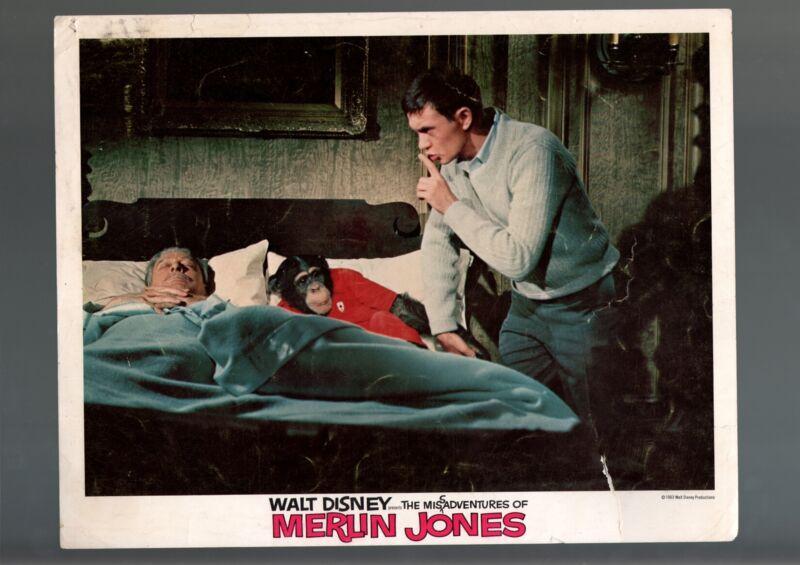 MISADVENTURES OF MERLIN JONES-1963-LOBBY CARD-COMEDY-KIRK-LEON AMES-fair FR