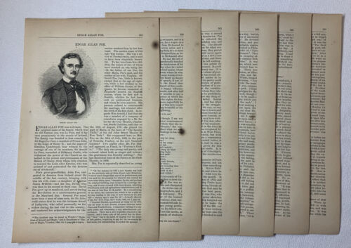 1872 article ~ EDGAR ALLAN POE