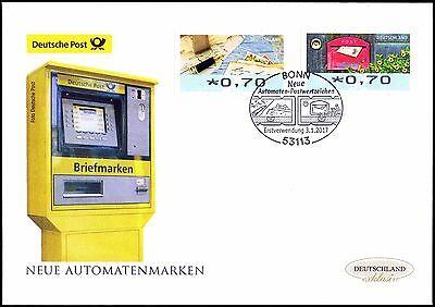 BRD 2017: Neue Automatenmarken Post-FDC der Nr. 8 und 9 mit Bonner Stempel! 1802